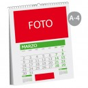 Calendario pared wire-o A-4